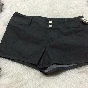 Ellemeno stretch dark denim shorts